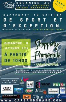 "SPORT AUTOMOBILE / Baptême ""Cars and Share"" - Edition 2019 @ Shopping Promenade"