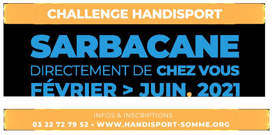 SARBACANE / Challenge Handisport SARBACANE @ Directement de CHEZ VOUS !