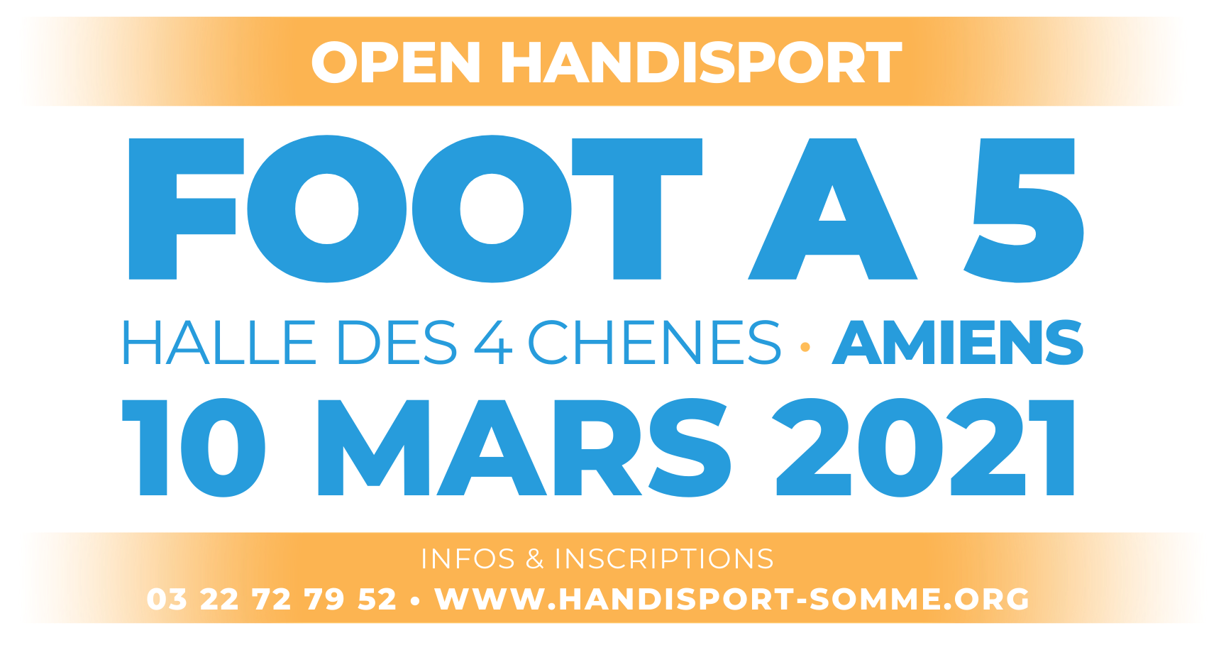 FOOT A 5 / Open Handisport FOOT A 5 @ Halle des 4 Chenes