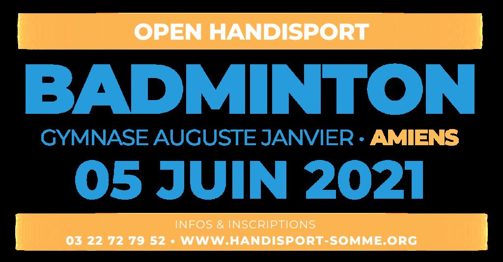BADMINTON / Open Handisport BADMINTON @ Gymnase Auguste JANVIER