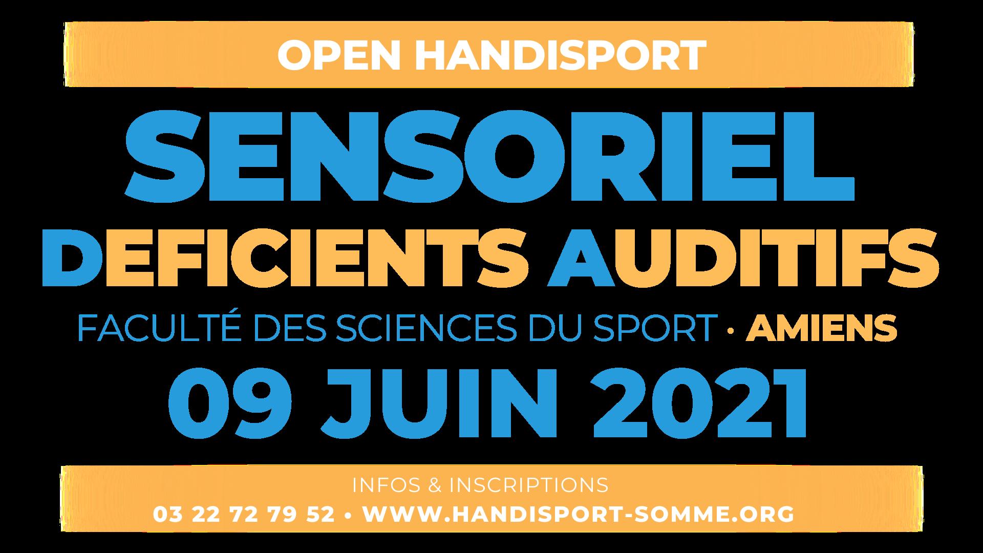 SENSORIEL D.A. / Open Handisport SENSORIEL DEFICIENTS AUDITIFS @ Faculté des Sciences du Sport d'Amiens