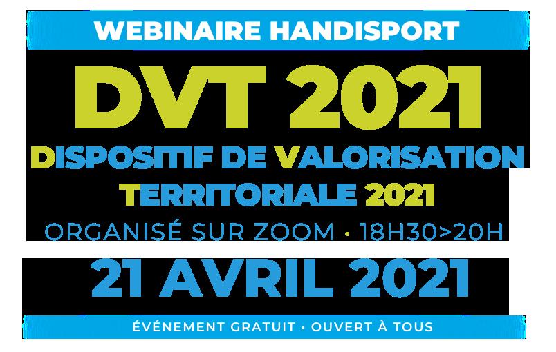 CONFERENCE / Webinaire Handisport DVT 2021 @ Organisée via ZOOM
