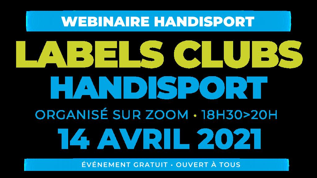 CONFERENCE / Webinaire Handisport LABELS CLUBS HANDISPORT @ Organisé via ZOOM