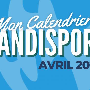 MON CALENDRIER HANDISPORT / Avril 2021